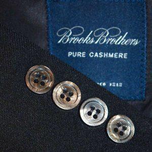 46R 45R Brooks Brothers 100% CASHMERE Black blazer